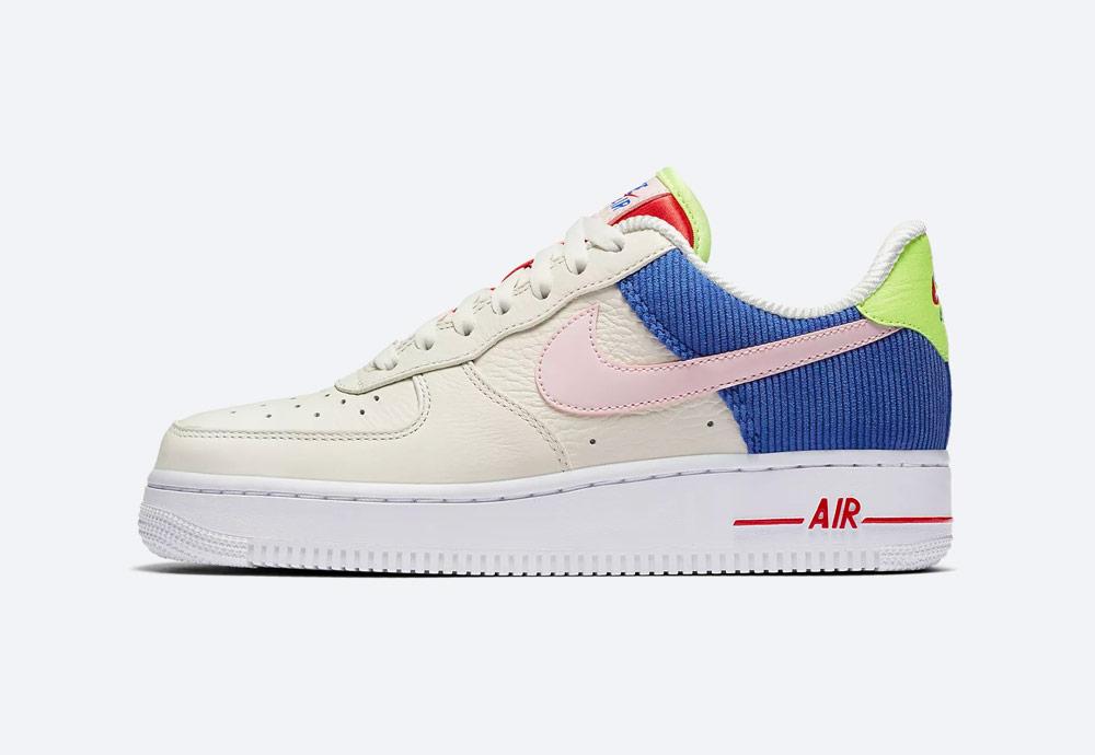Nike Air Force 1 Low — dámské boty — tenisky — bílé — barevné detaily — sneakers — Summer Pack 2018