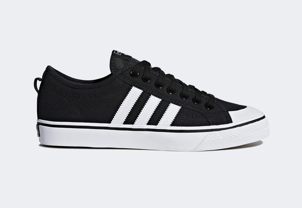 adidas Originals Nizza — plátěné tenisky — kecky — černé — pánské — boty — sneakers