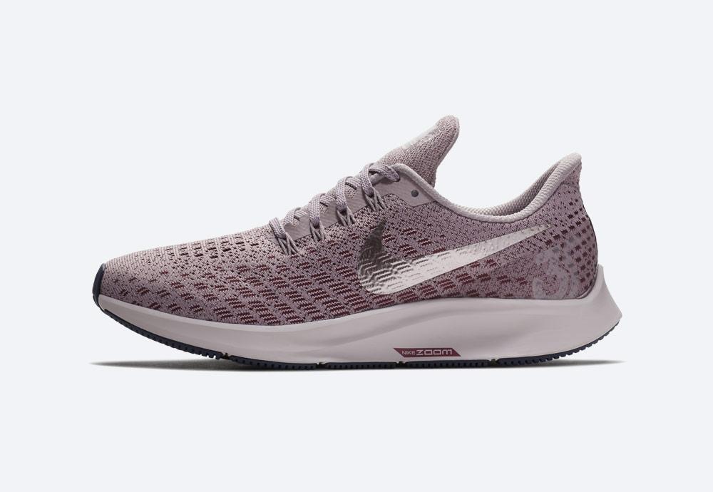 Nike Air Zoom Pegasus 35 — běžecké boty — dámské — růžové — stříbrná Swoosh — running shoes