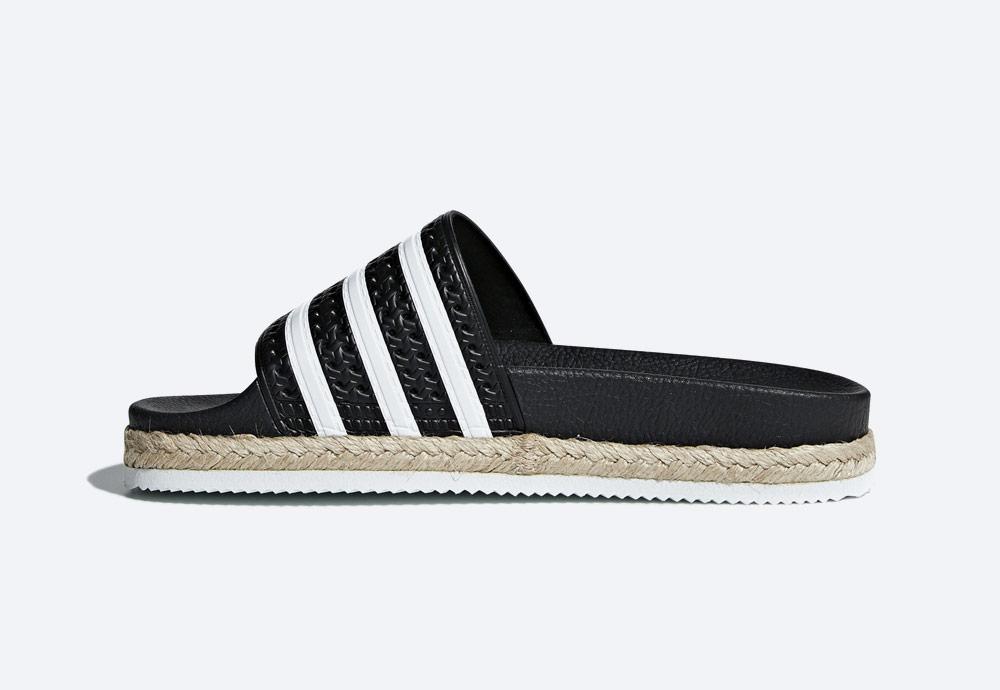 adidas Originals Adilette Bold — pantofle na platformě — dámské nazouváky — černé — womens black platform slides