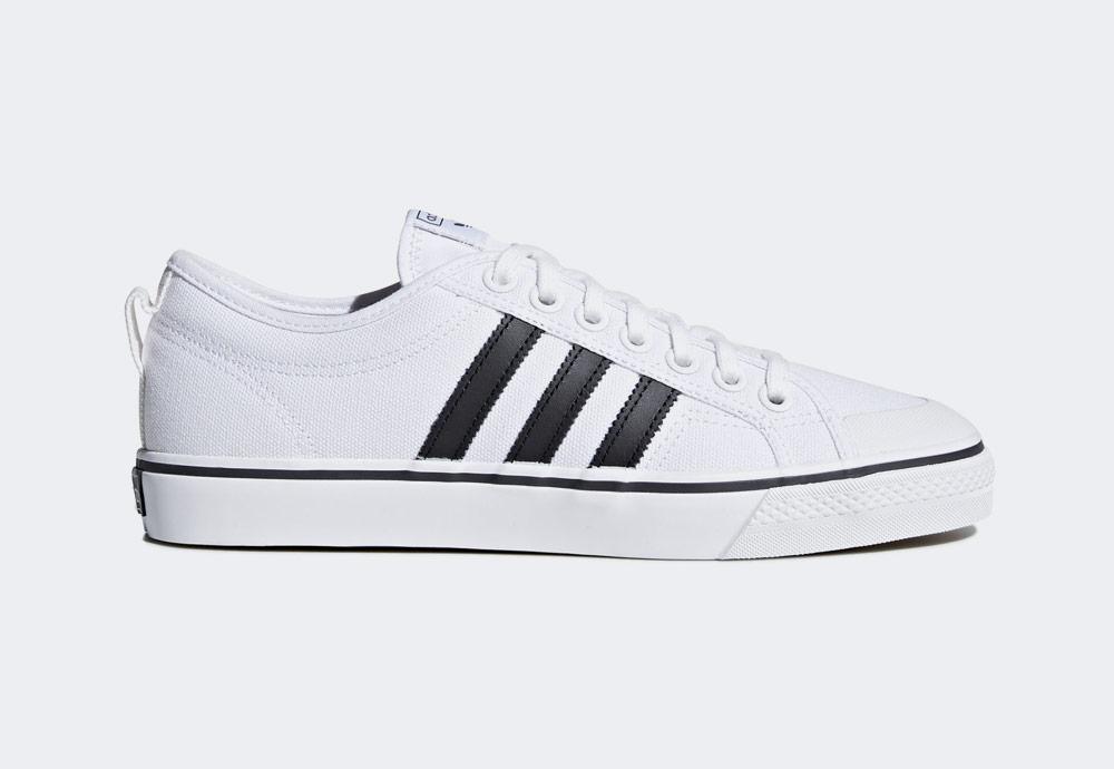 adidas Originals Nizza — plátěné tenisky — kecky — bílé — pánské — boty —  sneakers 9629030d0e