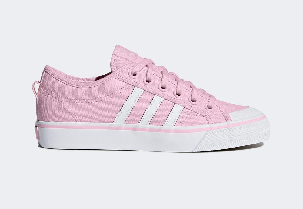 adidas Originals Nizza — plátěné tenisky — kecky — růžové — dámské — boty — sneakers