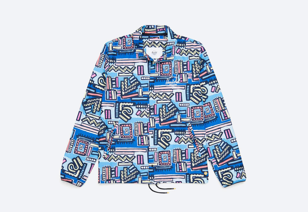 Herschel Supply x Hoffman — barevná bunda s límcem — Voyage Coach Jacket Men