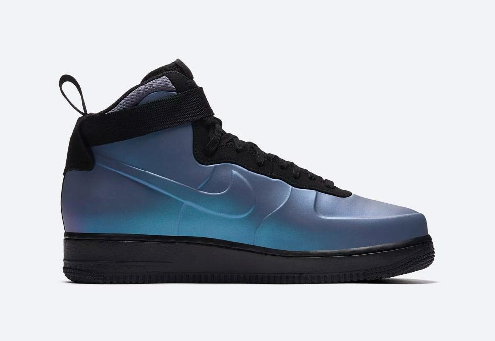 Nike Air Force 1 Foamposite Cupsole — kotníkové boty — pánské — perleťové modré — sneakers — nepromokavé
