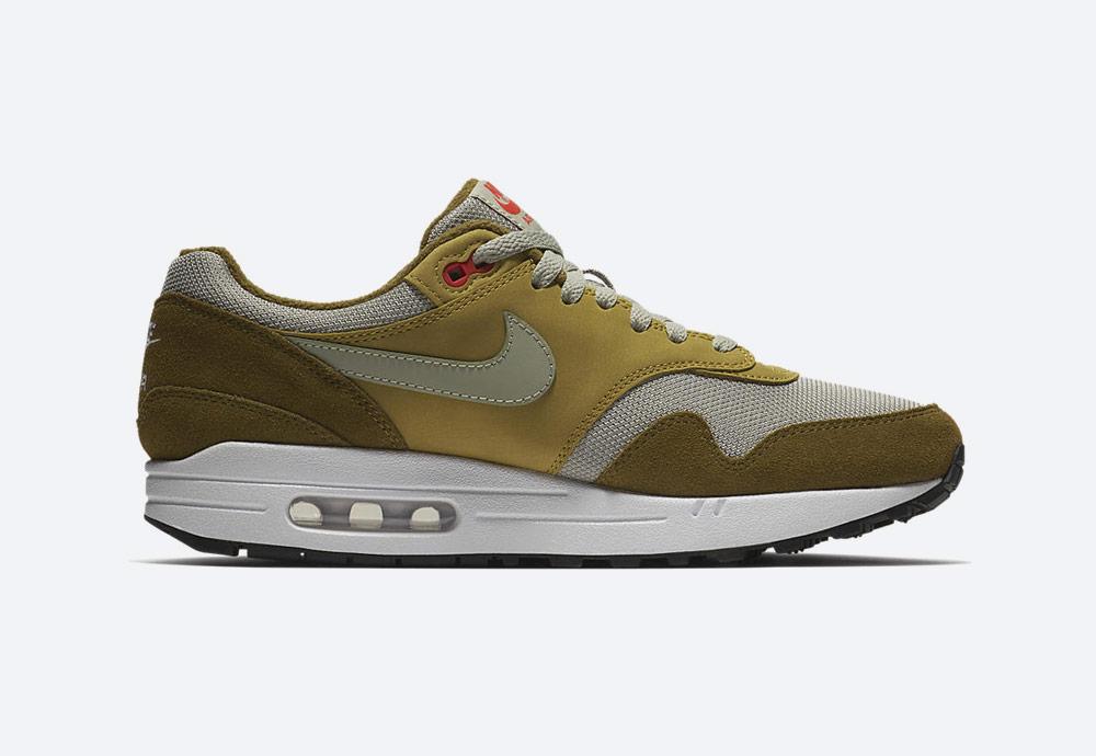 Nike Air Max 1 Premium Retro — Green Curry — boty — tenisky — zelené — pánské, dámské — sneakers