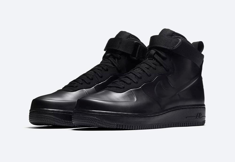 Nike Air Force 1 Foamposite Cupsole — kotníkové boty — pánské — černé — sneakers — nepromokavé