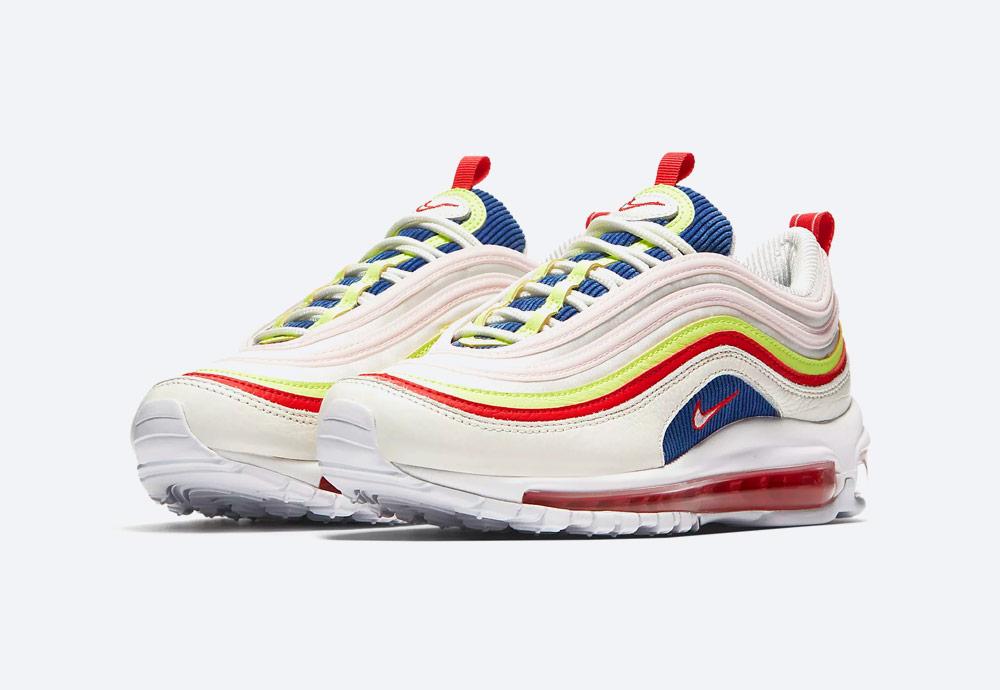Nike Air Max 97 SE — dámské boty — tenisky — bílé — barevné detaily — sneakers — Summer Pack 2018