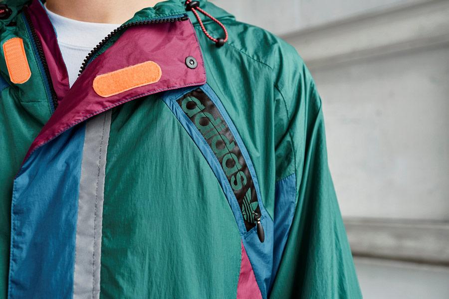 adidas Originals Atric Pack — šusťáková bunda s kapucí — zelená