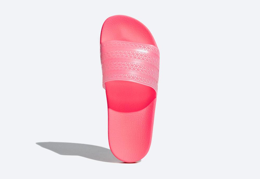 adidas Originals Adilette Lilo — letní pantofle — dámské nazouváky — růžové, červené, křiklavé — womens pink/red slides