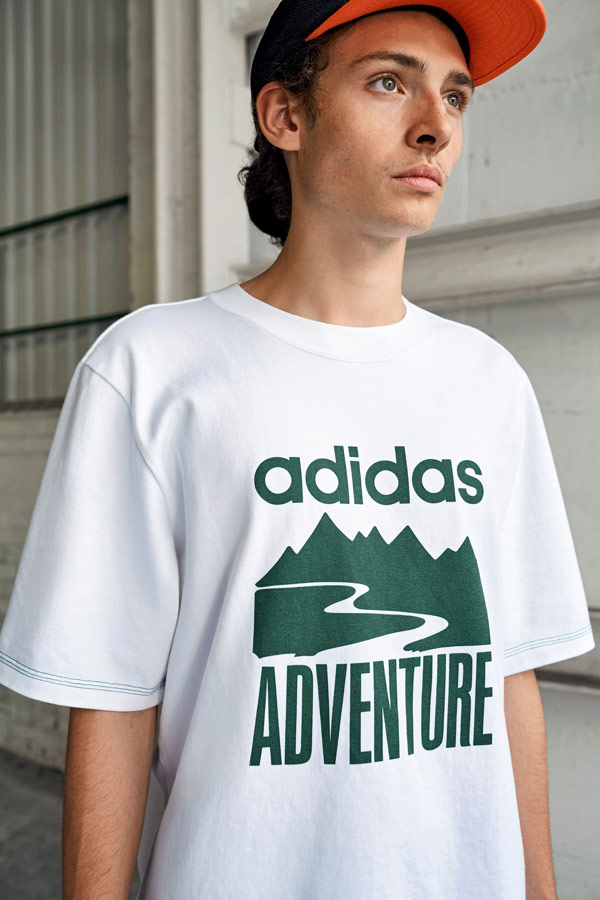 adidas Originals Atric Pack — bílé tričko s potiskem