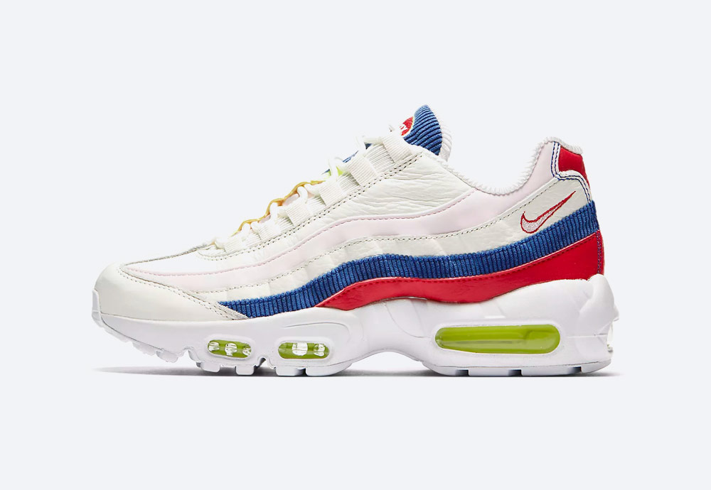 Nike Air Max 95 SE — dámské boty — tenisky — bílé — barevné detaily — sneakers — Summer Pack 2018