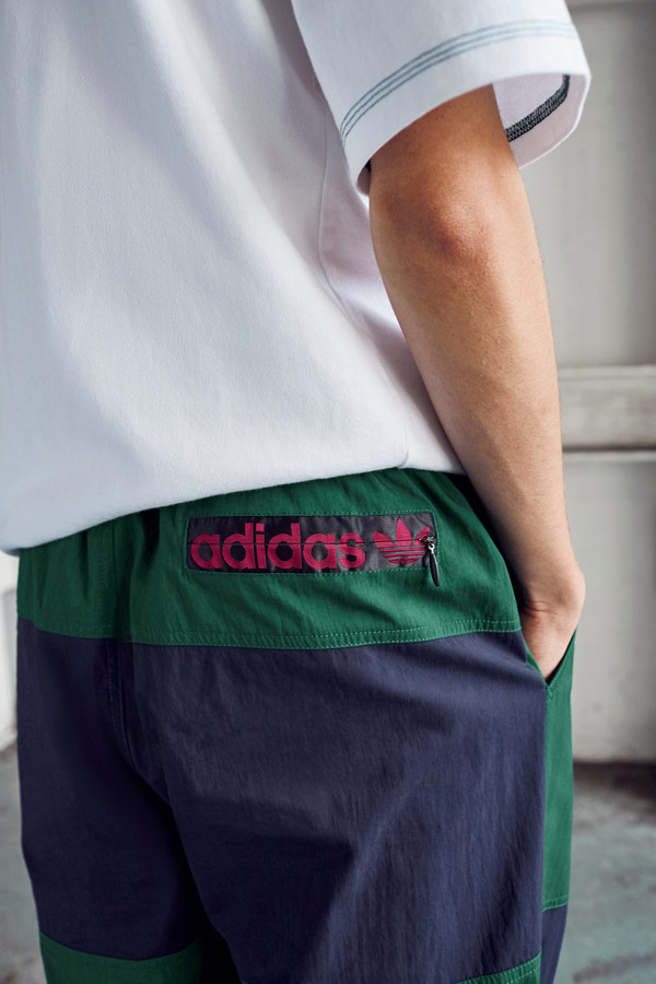 adidas Originals Atric Pack — modro-zelené šusťákové tepláky