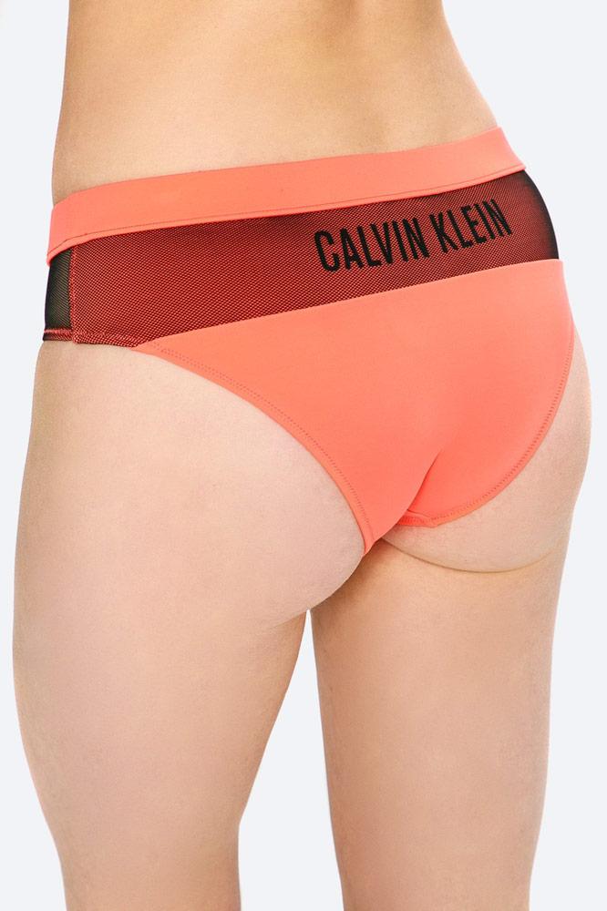 Calvin Klein — dámské plavky — dvoudílné — kalhotky — oranžové