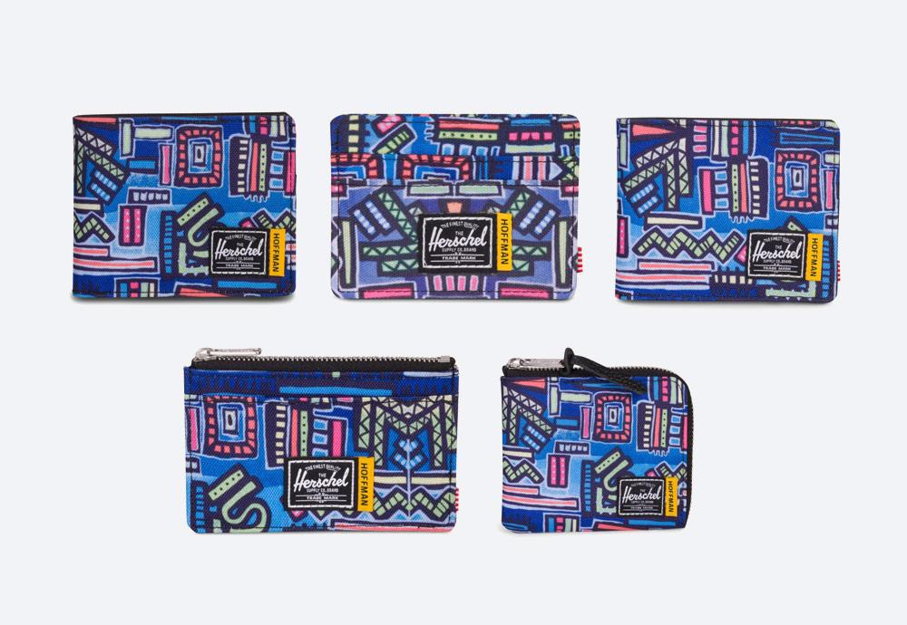 Herschel Supply x Hoffman — barevné peněženky — Wallets