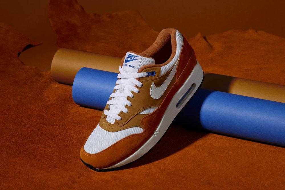Nike Air Max 1 Premium Retro — Dark Curry — boty — tenisky — žluté, hořčicové — pánské, dámské — sneakers