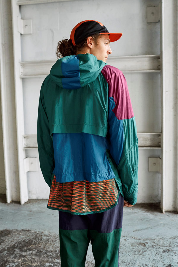 adidas Originals Atric Pack — šusťáková bunda s kapucí — modro-zelené šusťákové tepláky