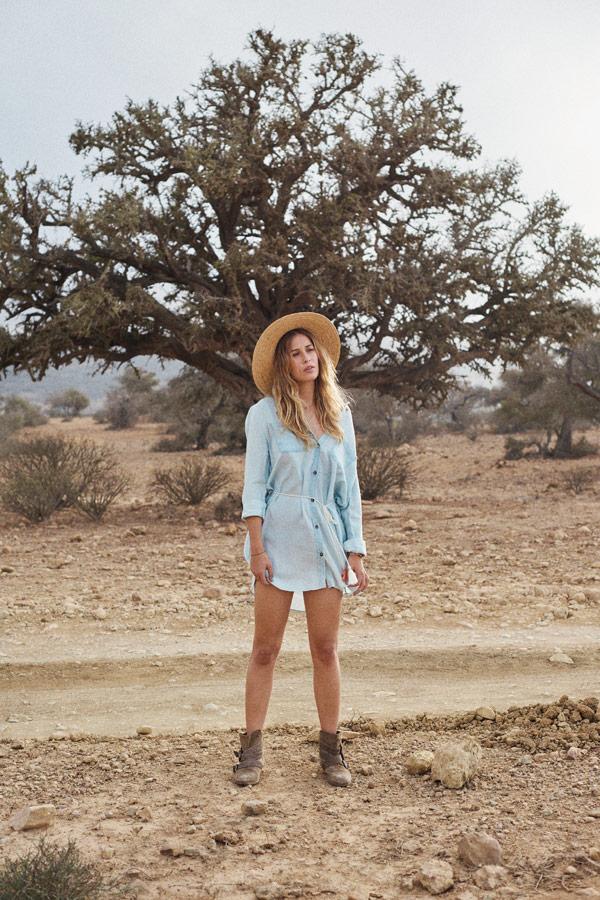 Femi Stories — letní světle modré šaty