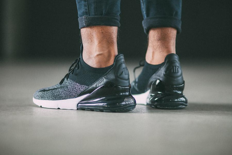 Nike Air Max 270 Flyknit — tenisky — šedé — boty — sneakers — lookbook