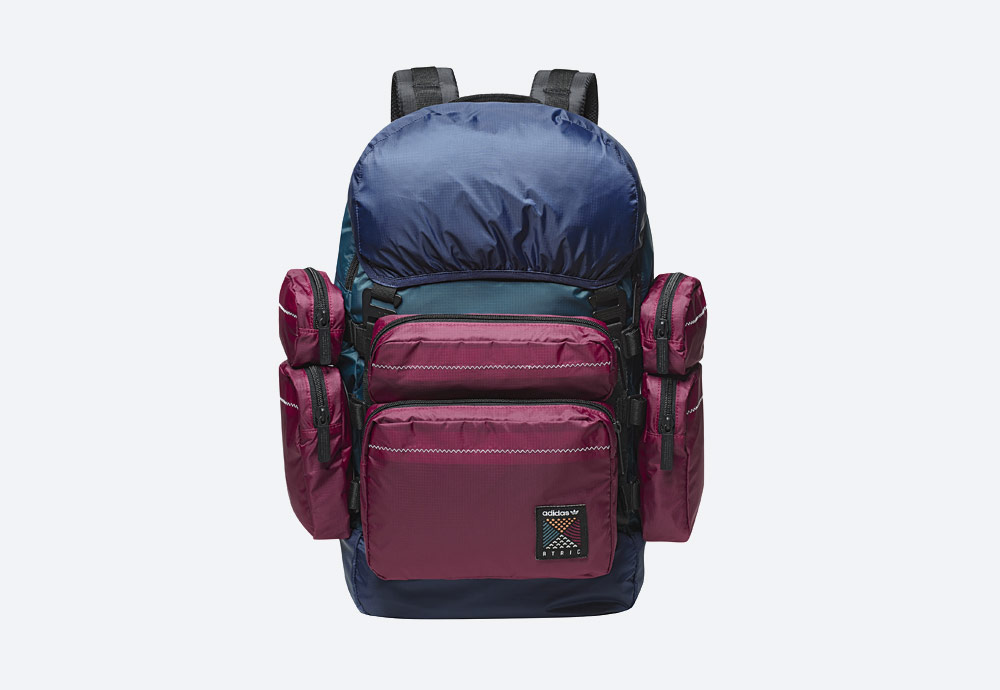 adidas Originals Atric Backpack — sportovní batoh — vínový, modrý, zelený