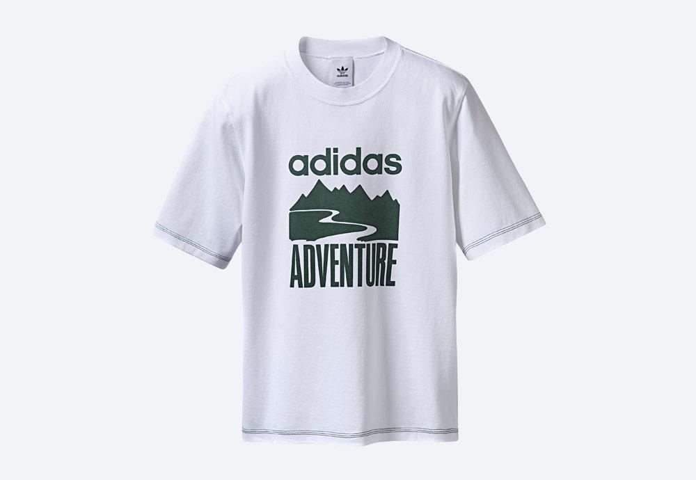 adidas Originals Atric Adventure — bílé tričko s potiskem