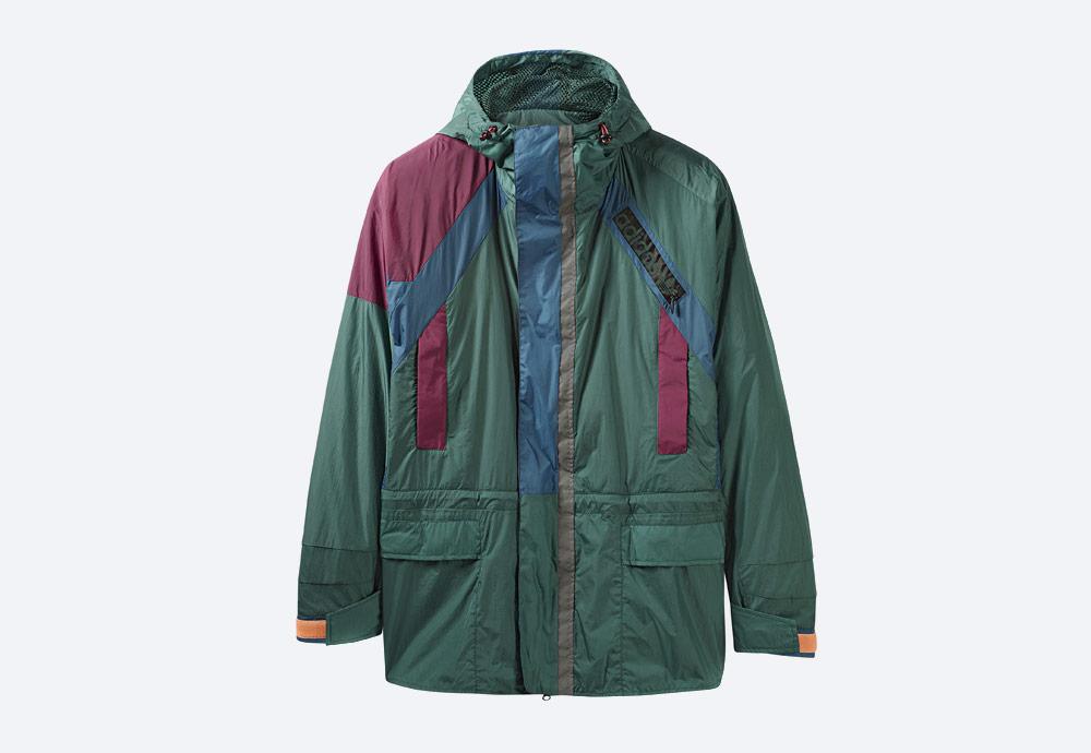 adidas Originals Atric Lite Jacket — dlouhá sportovní šusťáková bunda s kapucí — zelená
