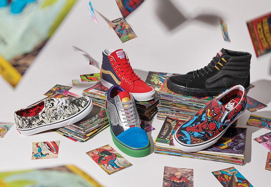 Vans x Marvel — boty, oblečení, doplňky