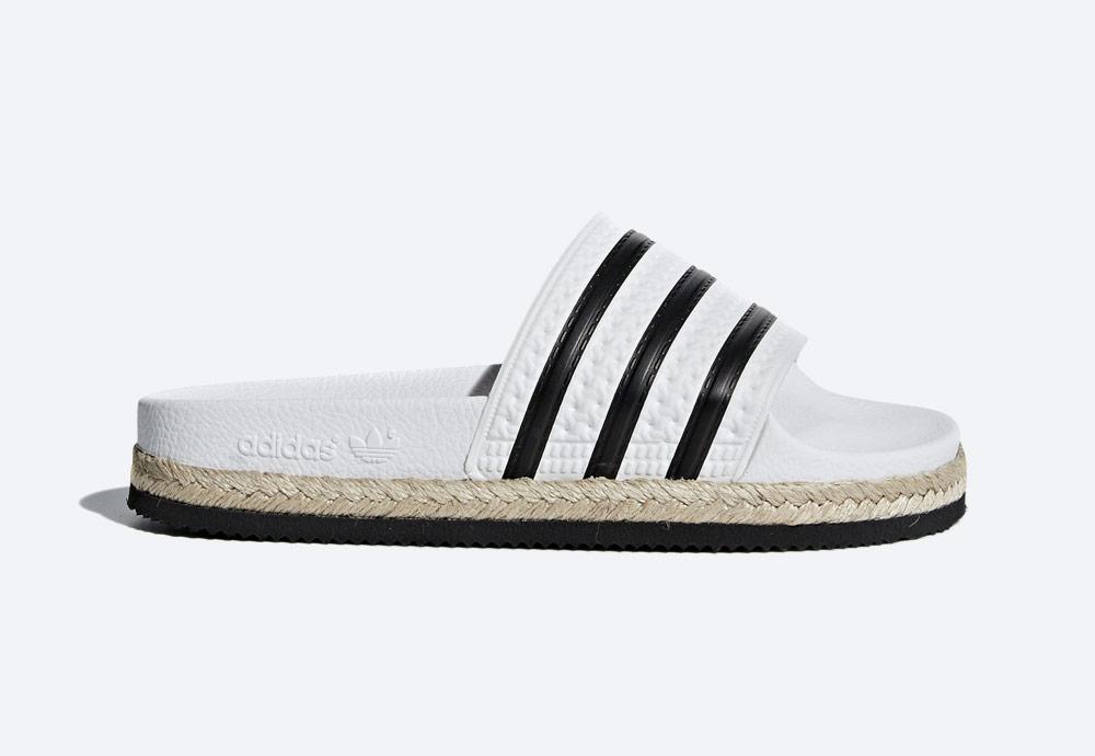 adidas Originals Adilette Bold — pantofle na platformě — dámské nazouváky — bílé — womens white platform slides