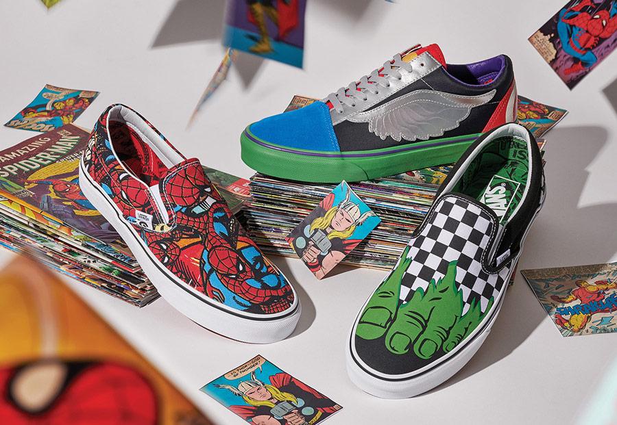 Vans x Marvel — boty — tenisky — sneakers — Slip-On — Old Skool