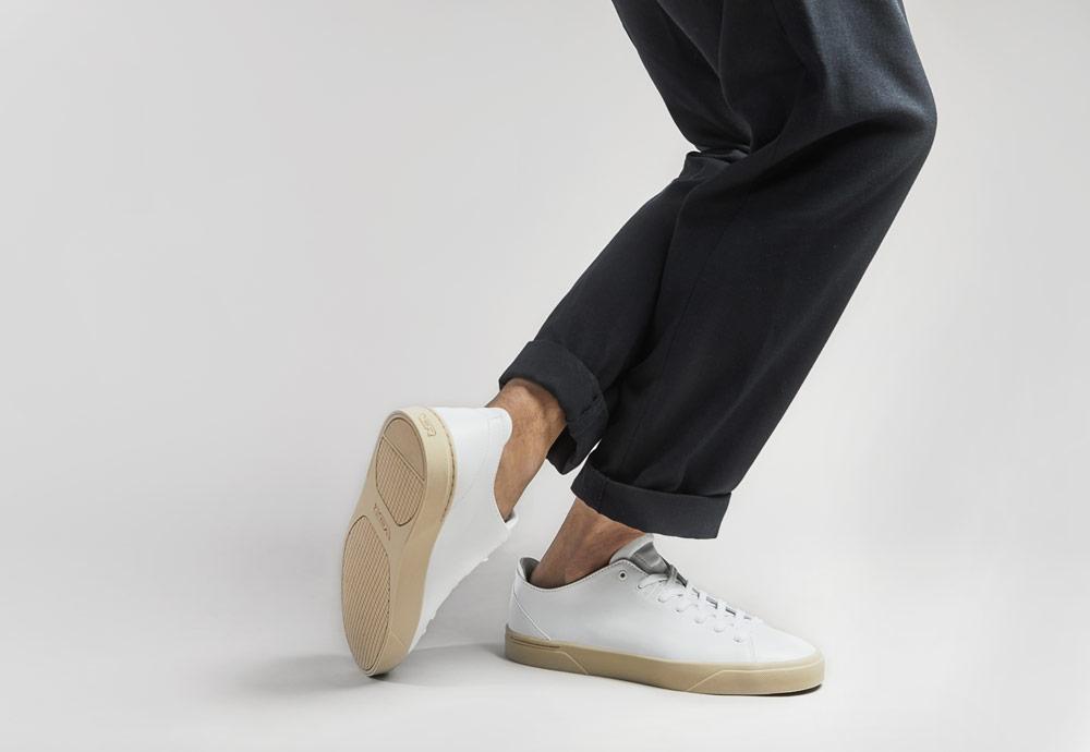 VOR — bílé tenisky — pánské — dámské — minimalistické — boty — 1A Antikweiss