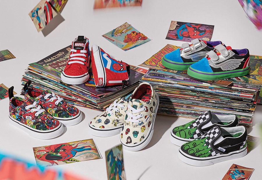 Vans x Marvel — dětské boty — tenisky — Avengers