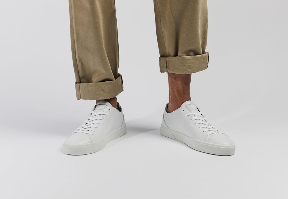VOR — bílé tenisky — pánské — dámské — minimalistické — boty — 1A Reinweiss