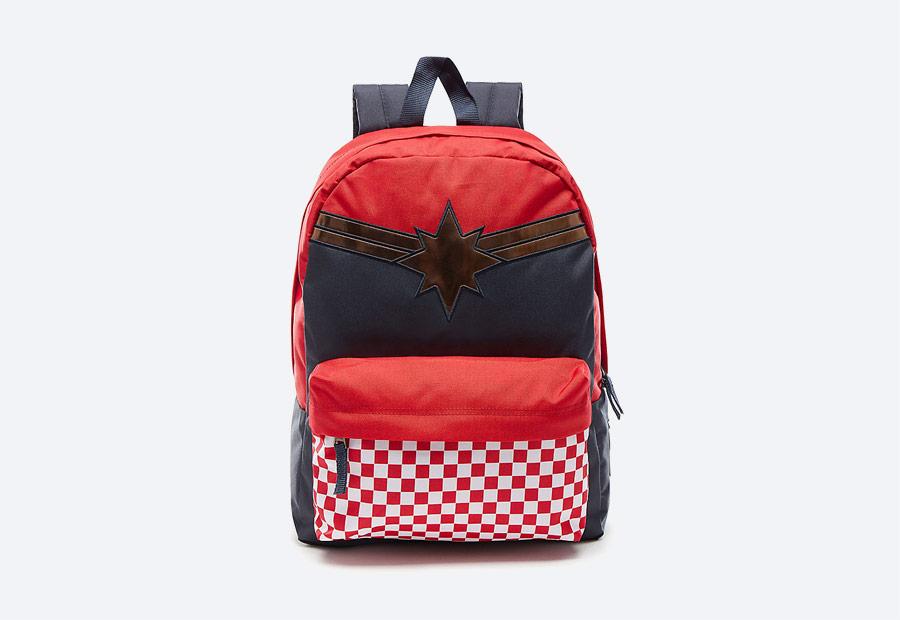 Vans x Marvel — modro-červený batoh — Captain America — Avengers