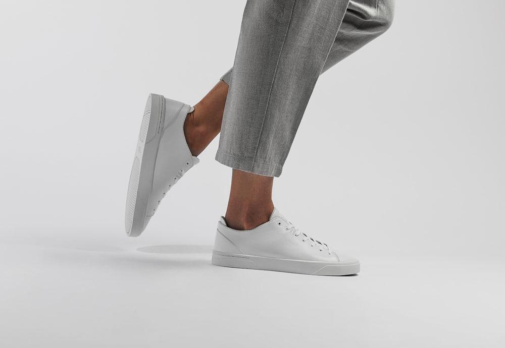 VOR — bílé tenisky — dámské — pánské — minimalistické — boty — 1A Reinweiss
