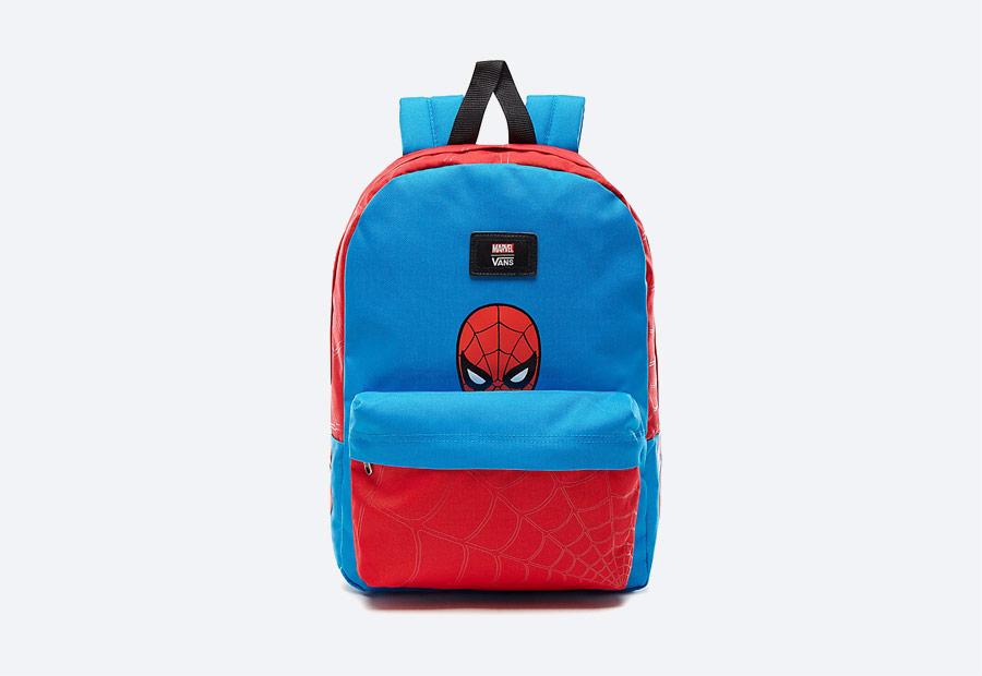 Vans x Marvel — červeno-modrý batoh — Spiderman — Avengers