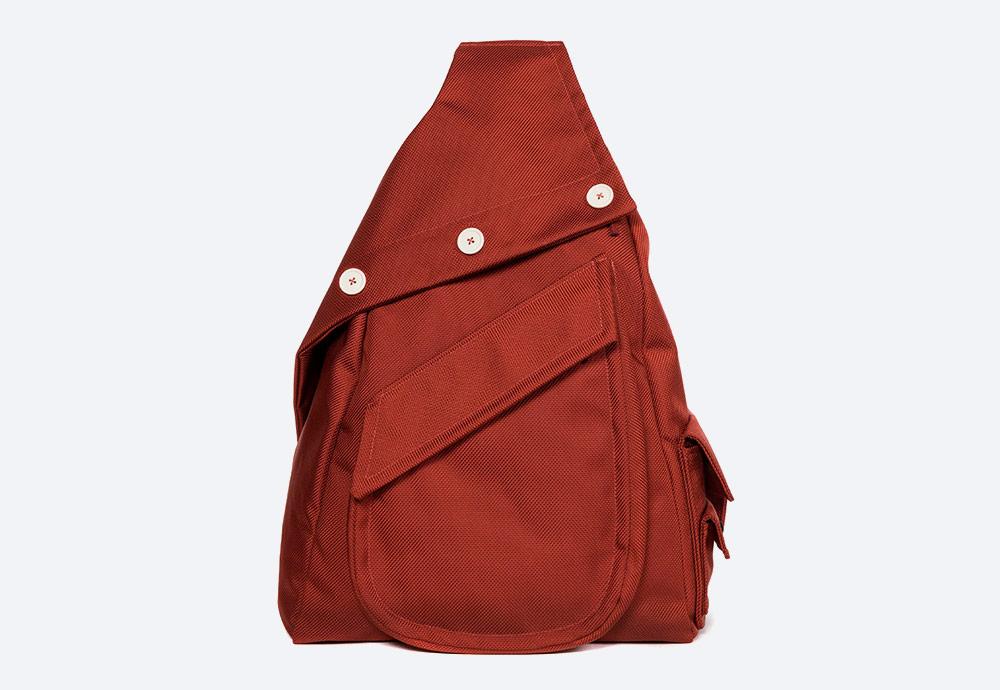 Eastpak x Raf Simons VII — batoh — červený — RS Organized Sling Backpack