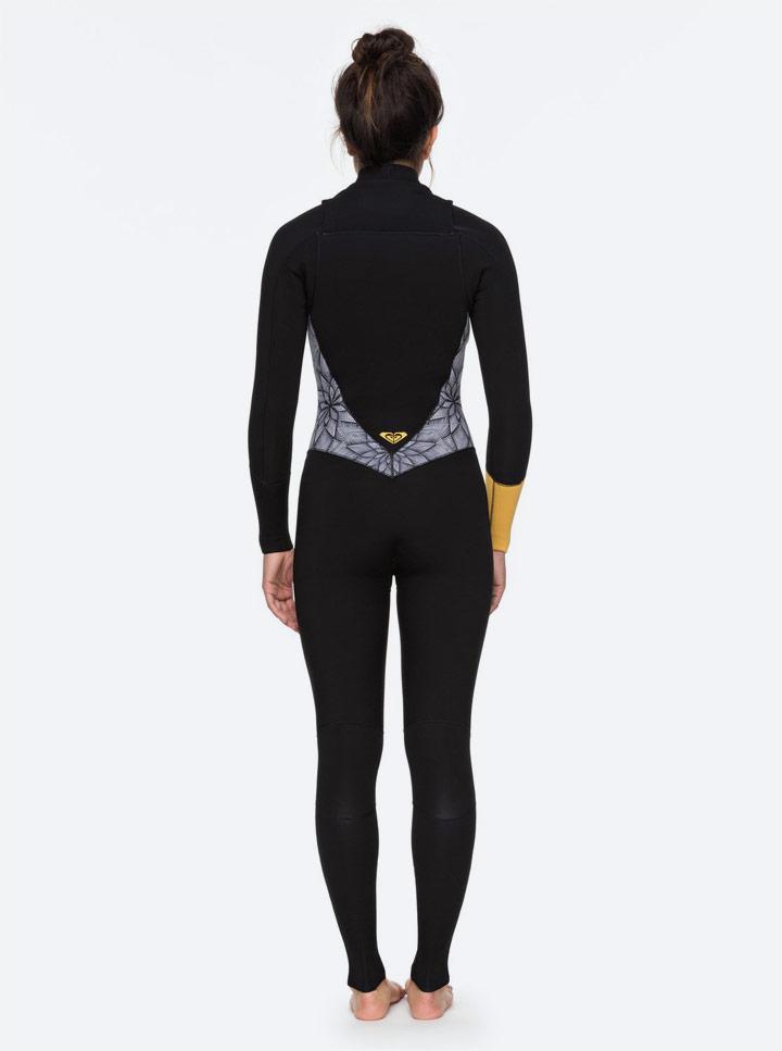 Roxy Pop Surf — dámský neoprenový overal — dámská surfařská kombinéza — wetsuit, surfařská kombinéza — černá s barevným vzorem léto 2018