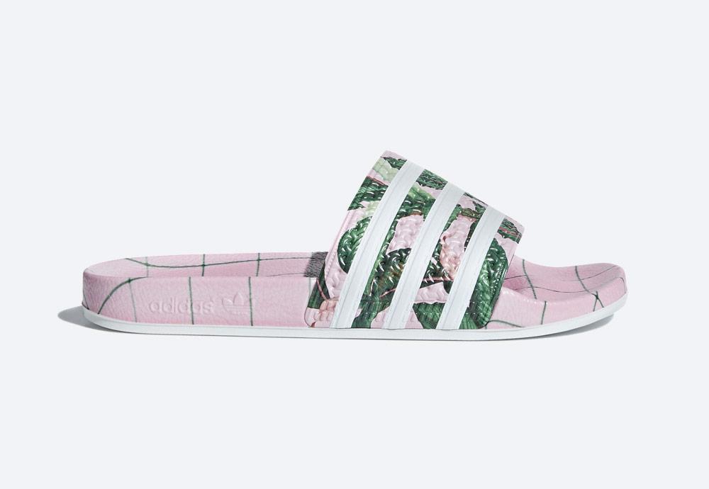 adidas Originals Adilette — dámské pantofle — letní nazouváky — růžové, barevné — womens colorful slides