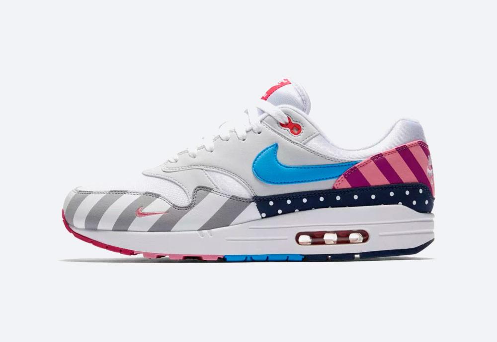 Nike Air Max 1 Parra — barevné boty — tenisky — sneakers — dámské, pánské