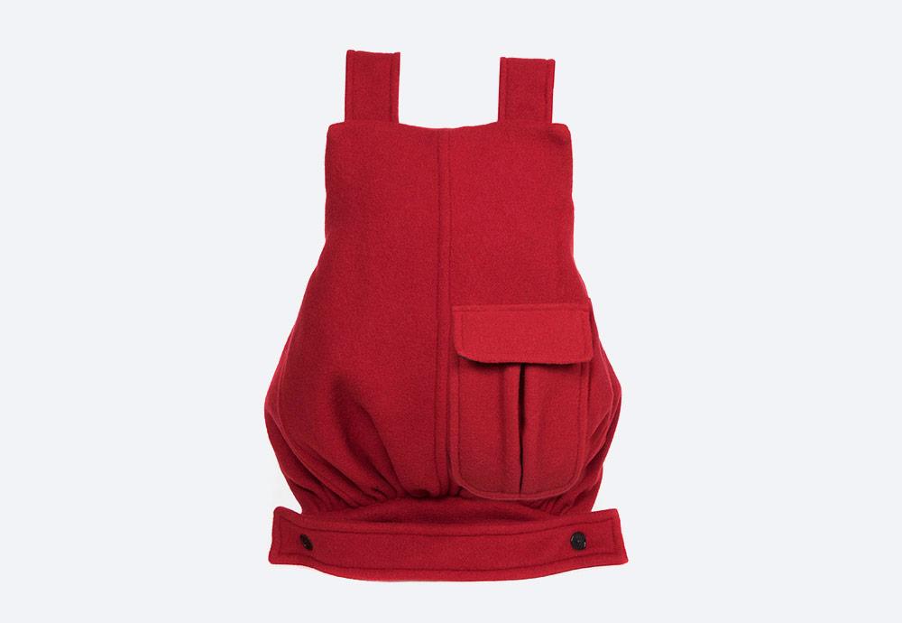 Eastpak x Raf Simons VII — batoh — červený — RS Coat Bag Backpack