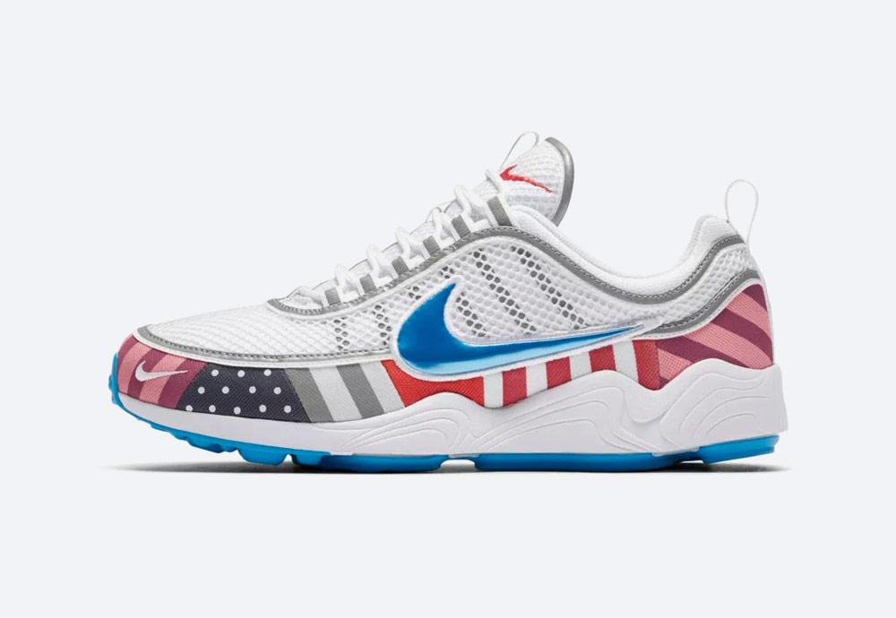 Nike Air Zoom Spiridon Parra — boty — barevné tenisky se vzory — sneakers — pánské, dámské