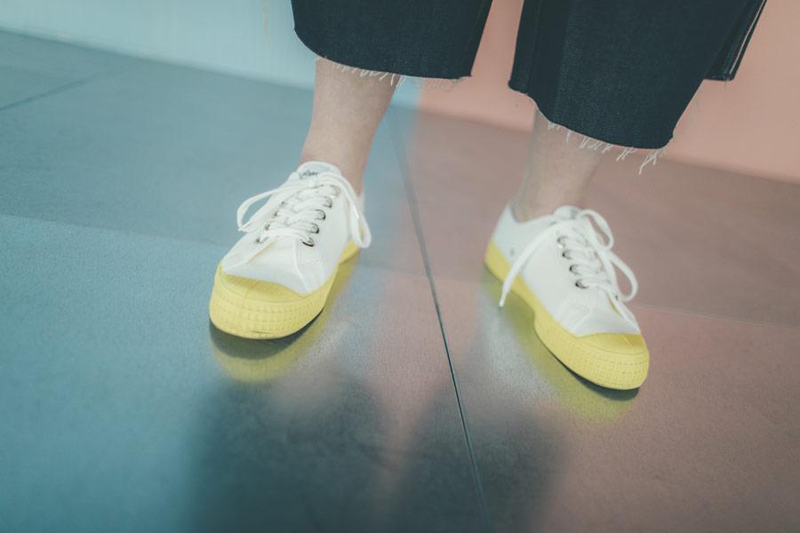 Freshlabels — udržitelná móda — sustainable — lookbook — tenisky Novesta