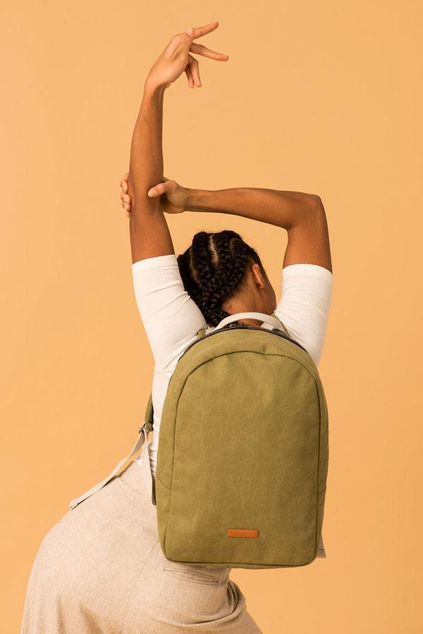 Ucon Acrobatics — zelený batoh — bavlněný — vegan, sustainable — podzim/zima 2018