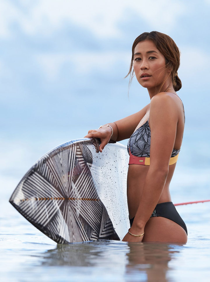 Roxy Pop Surf — dámské dvoudílné plavky — bikiny — look — léto 2018