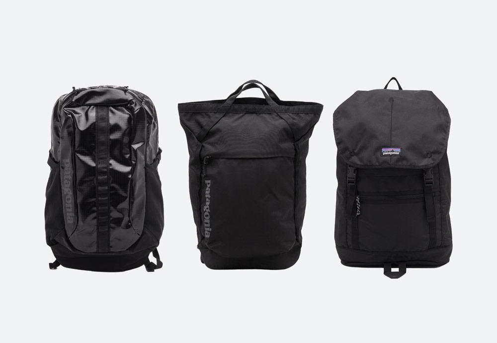 Černé batohy Patagonia — školní/městské/outdoor