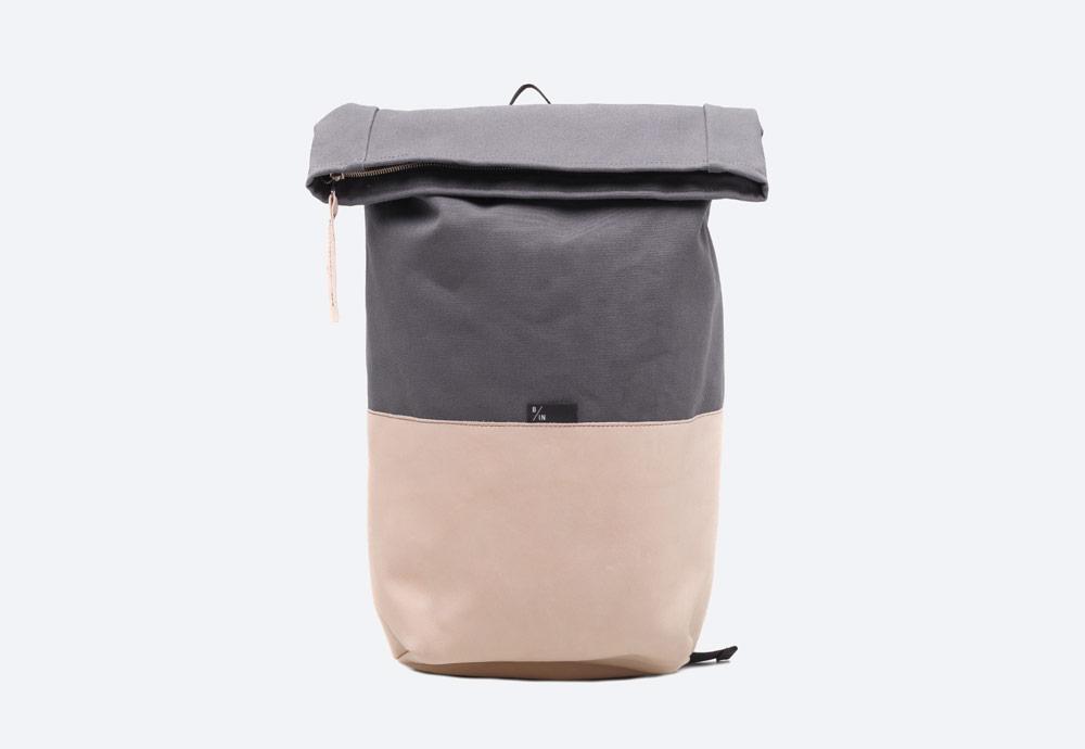 Braasi Industry — Haak — batoh — šedý, béžový — fold-top — skladací vstup — urban, outdoor, městský