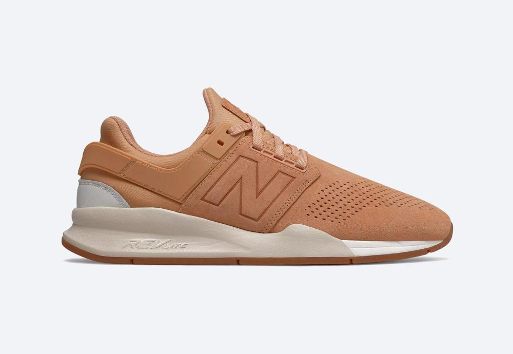New Balance 247 — boty — pánské, dámské — tenisky — sneakers — pastelové světle hnědé