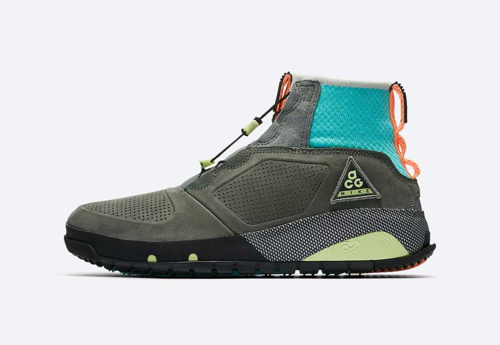 Nike ACG Ruckle Ridge — kotníkové boty — pánské — zimní, podzimní — outdoorové — šedo-zelené — sneakerboots