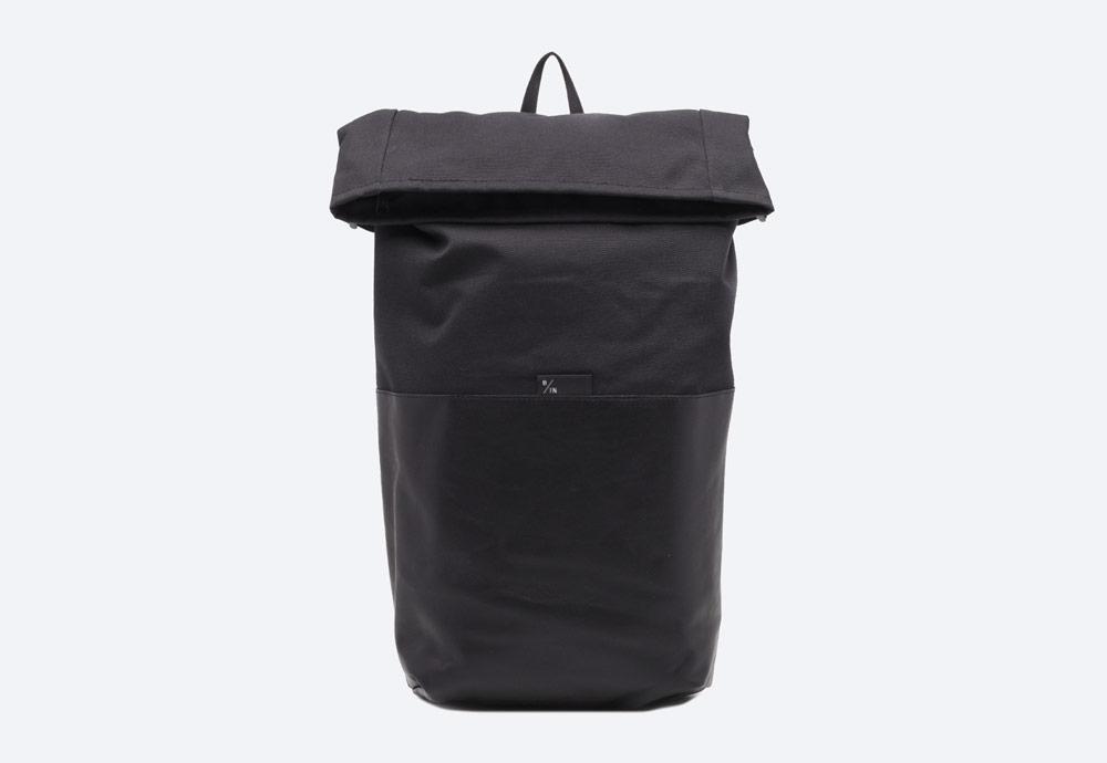 Braasi Industry — Ayo — batoh — černý — fold-top — skladací vstup — urban, outdoor, městský