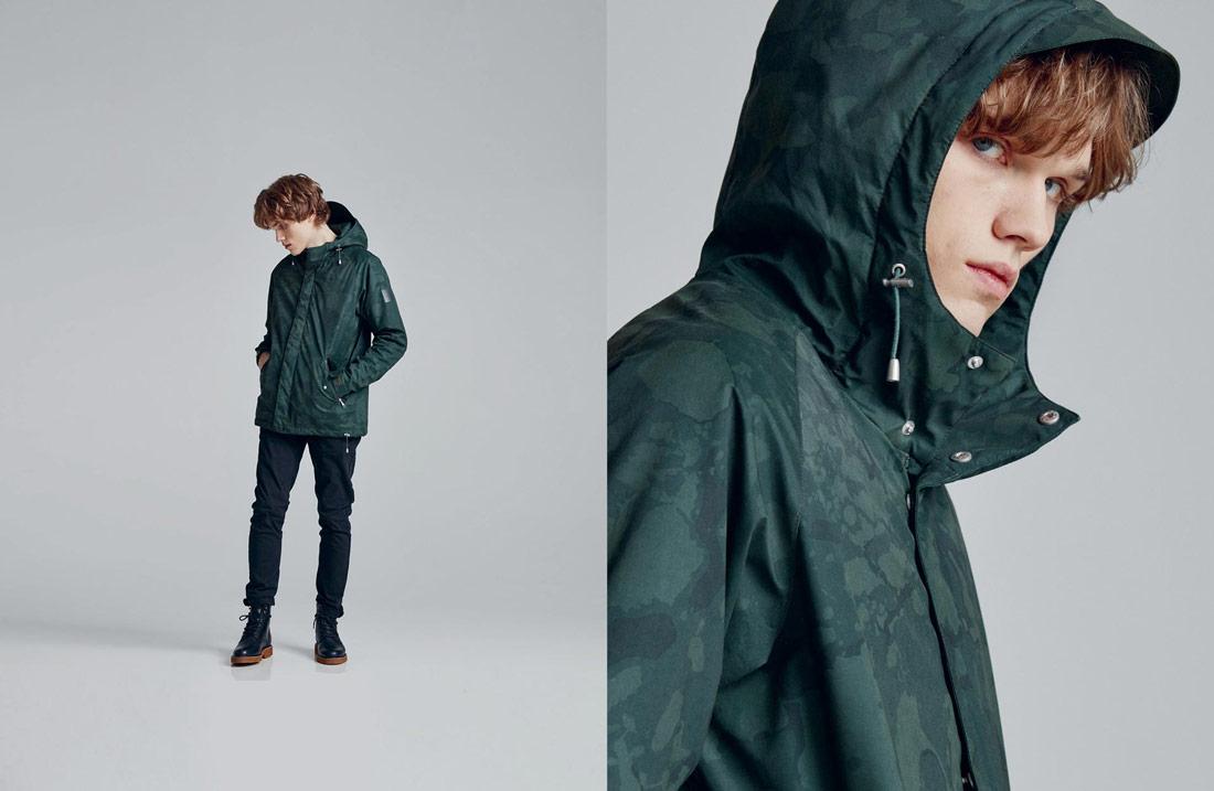 Makia — kratší maskáčová podzimní/zimní fishtail parka — bunda s kapucí — zelená