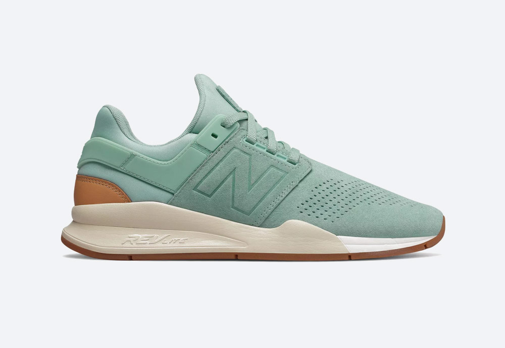 New Balance 247 — boty — pánské, dámské — tenisky — sneakers — pastelové zelené